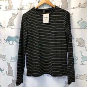 Forever 21 Striped Knit Long Sleeve Top
